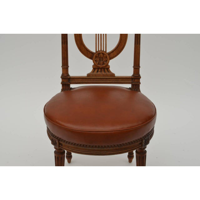 Elegant Neoclassical Side Chair by Maison Jansen For Sale In Los Angeles - Image 6 of 7