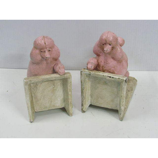 Pink Poodle Cast Iron Bookends - A Pair - Image 3 of 6
