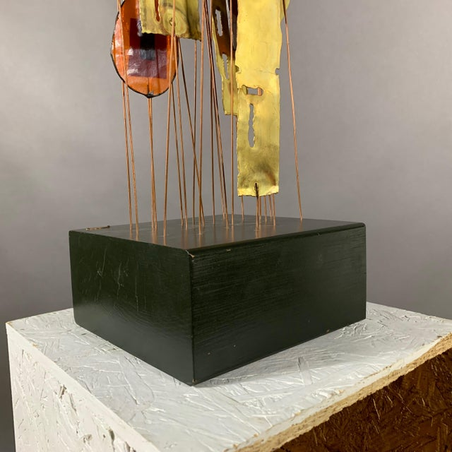 """1950s C. Jere Fused Glass & Metal Kinetic 53"""" Sculpture For Sale - Image 10 of 11"""