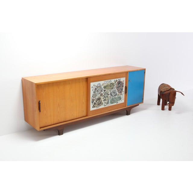 Modernist Sideboard With Perignem Ceramic and Macassar Details For Sale - Image 11 of 12