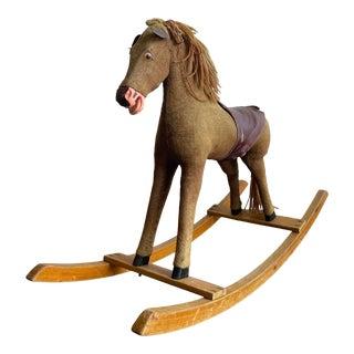 1960s Vintage Children's Rocking Horse For Sale