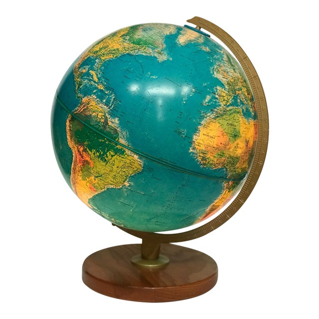 Vintage Late 20th Century Globe Light For Sale