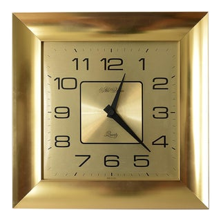 Vintage 1970s Hollywood Regency New Haven Wall Clock For Sale