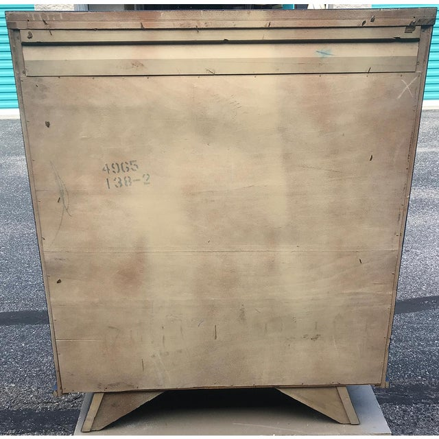 Vintage Mid Century Modern HighBoy Dresser For Sale - Image 9 of 10