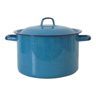 Graniteware Turquoise Pot
