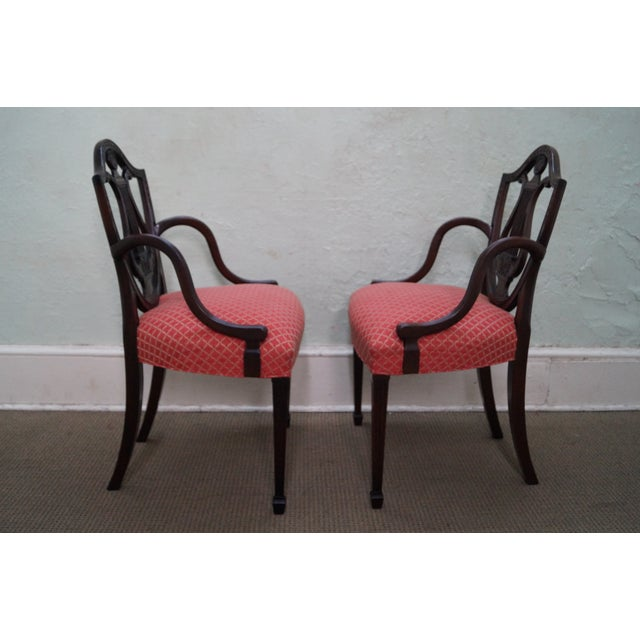 Mahogany Adams Carved Shield Back Chairs - A Pair - Image 3 of 10