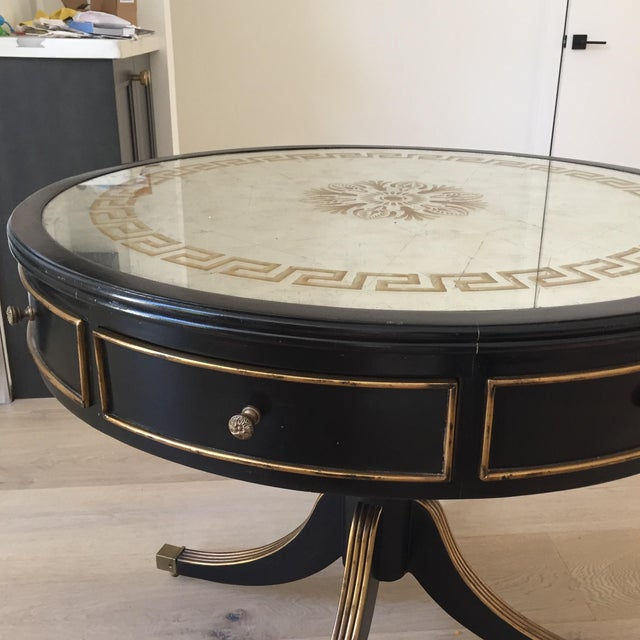 Traditional Late 20th Century John-Richard Vintage Drum Entry Table For Sale - Image 3 of 10