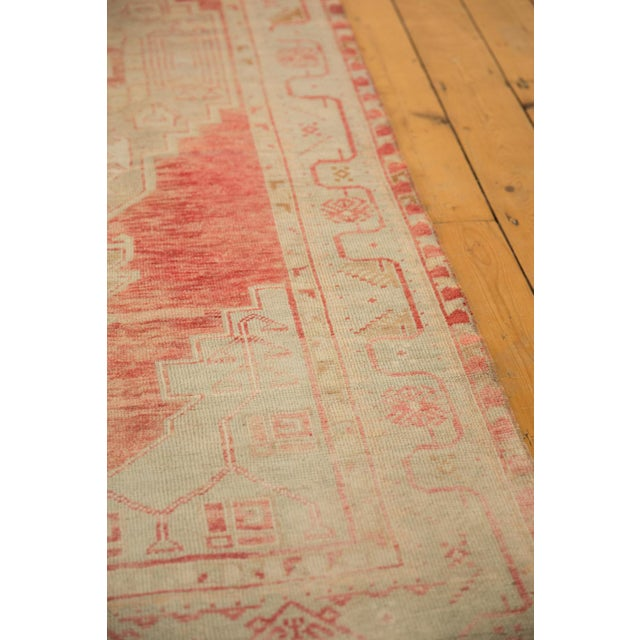 "Vintage Distressed Oushak Rug Runner - 3'5"" X 9'1"" For Sale In New York - Image 6 of 11"