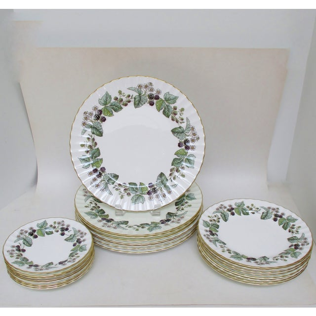 Royal Worcester Vintage Royal Worcester Plates - Set of 24 For Sale - Image 4 of 7