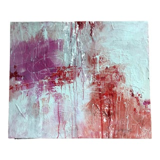 """Nancy Smith """"Play Off"""" Original Acrylic Abstract Painting For Sale"""