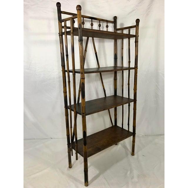 Wood 19th Century Bamboo Bookshelf For Sale - Image 7 of 7