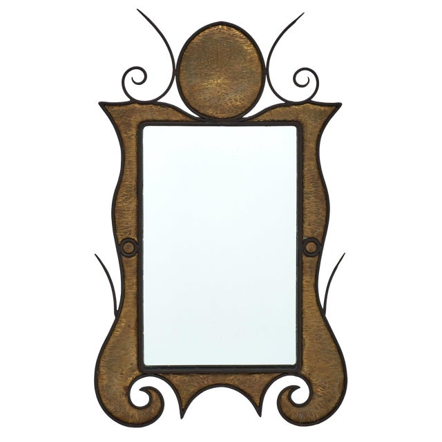 French Art Nouveau Wall Mirror For Sale