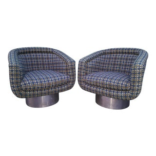 1970's Vintage Leon Rosen Pace Swivel Lounge Chairs- a Pair For Sale