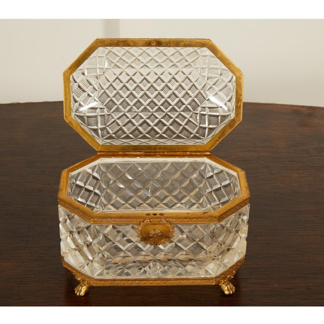 French French Crystal Casket Box For Sale - Image 3 of 8