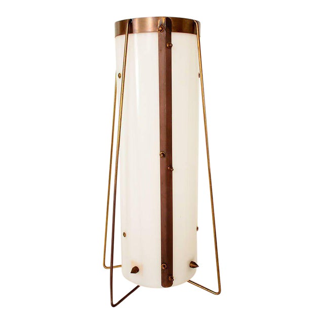 Brass & Acrylic Table Lamp For Sale