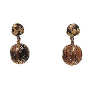 Early 1950s Trifari Faux-Tortoise Drop Earrings For Sale