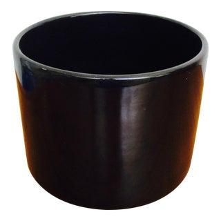Mid-Century Modern Gainey Ceramics Black Pottery Planter