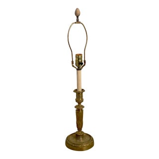 French Ormolu Candlestick Lamp, Circa 19th Century For Sale