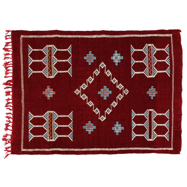 Moroccan Rug, 4'6'' X 3'1'' For Sale