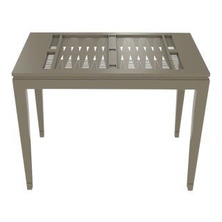 Oomph Backgammon Outdoor Table, Taupe For Sale