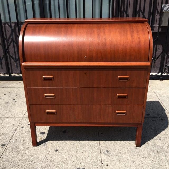Secretary Roll Top Desk - Image 3 of 10