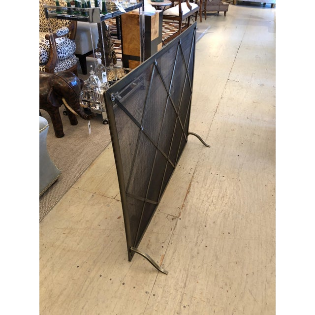 Handsome Large Fireplace Screen For Sale - Image 4 of 11