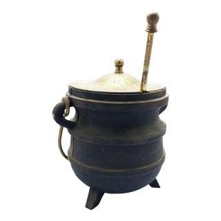 Antique Cast Iron Fire Starter Cauldron For Sale