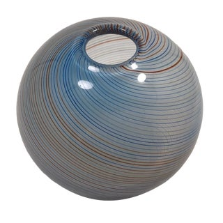Vintage Mid-Century Dansk Designs Handblown Art Glass Globe Vase For Sale