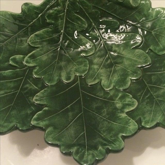 Majolica-Style Leaf Dish - Image 3 of 6