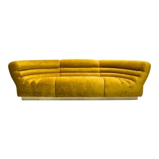 Todd Merrill Custom Originals, Channel Tufted Racetrack Sofa Sectional