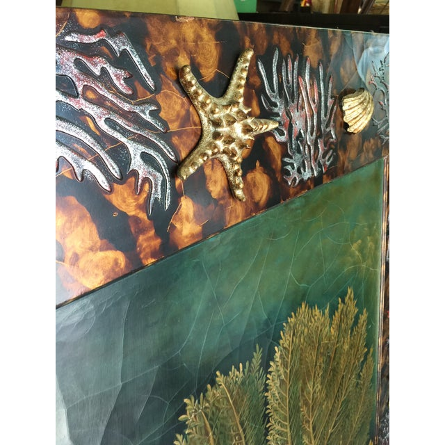 Trompe L'oiel Painting of Underwater Scene For Sale - Image 9 of 11