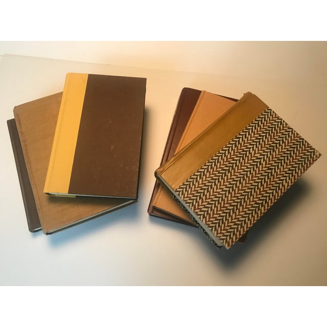 20th Century Americana Rich Gold and Brown Book Bundle - Set of 6 For Sale - Image 4 of 12