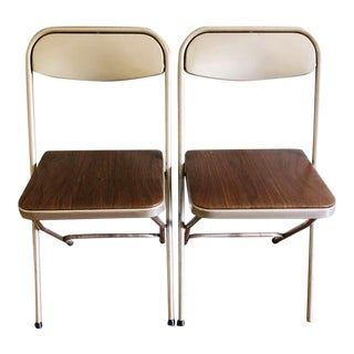 Mid Century Samsonite Folding Chairs - a Pair For Sale