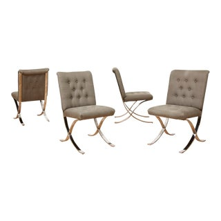 Vintage Barcelona Style Dining Chairs, 1970s - Set of 4 For Sale