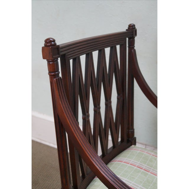 Beacon Hill Solid Mahogany Regency Style Arm Chair - Image 5 of 10