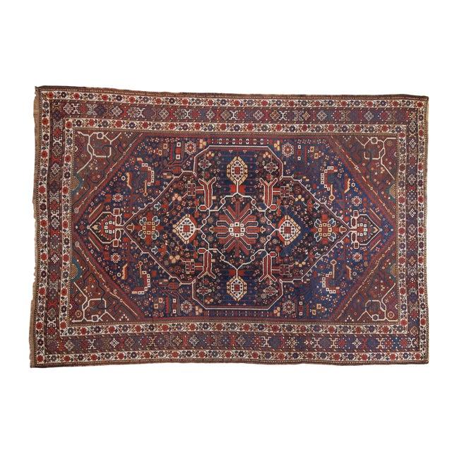 """Vintage Shiraz Carpet - 7'3"""" X 10'2"""" For Sale"""