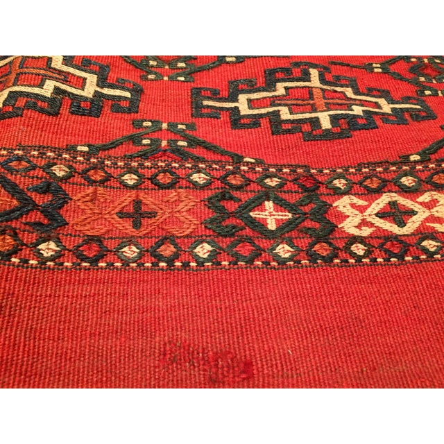Afghan Antique Tribal Persian Wool Saddle Bag For Sale - Image 3 of 7