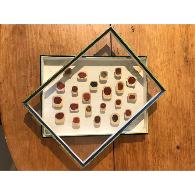 French Framed 18th Century French Wax Seals For Sale - Image 3 of 7