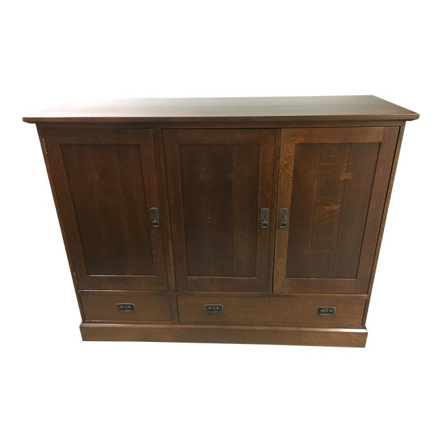 Stickley Oak Entertainment Cabinet - Image 1 of 5