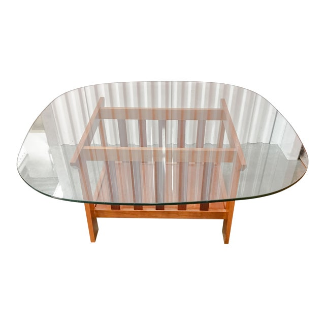 Surprising Modern Oak Glass Top Coffee Table Pabps2019 Chair Design Images Pabps2019Com
