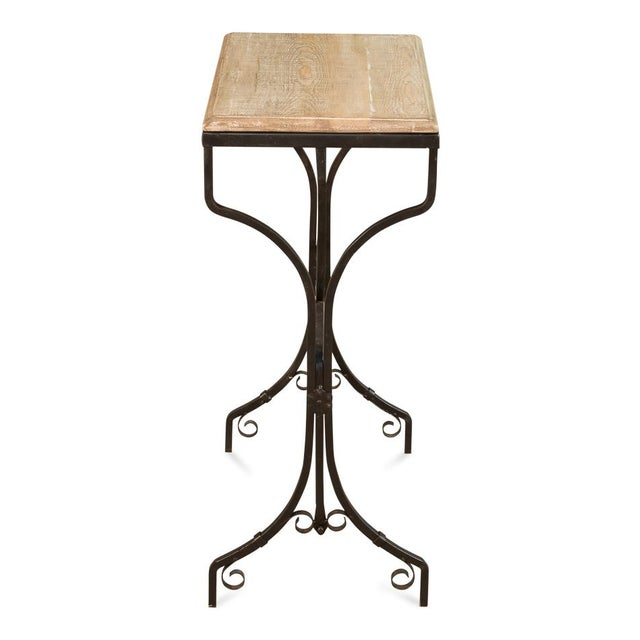 Mid-Century Modern Reclaimed Wood Bistro Table For Sale - Image 3 of 6