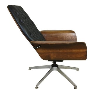 Black Vinyl Mulhauser Lounge Chair