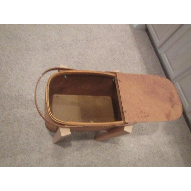 Vintage Picnic Basket Side Table - Image 7 of 11