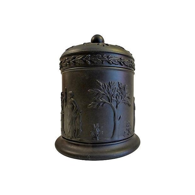 Wedgewood Black Lidded Container - Image 3 of 5