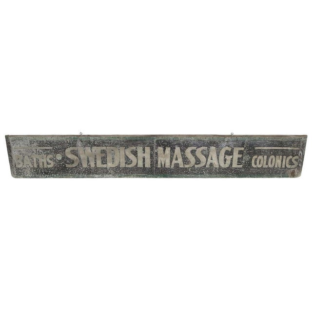 Swedish Massage and Colonics Street Sign For Sale