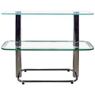1930´s Art Deco Shelving Unit, chromed plated brass, glass . Barcelona, Spain For Sale