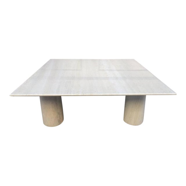 Large Mario Bellini Italian Marble Coffee Table For Sale