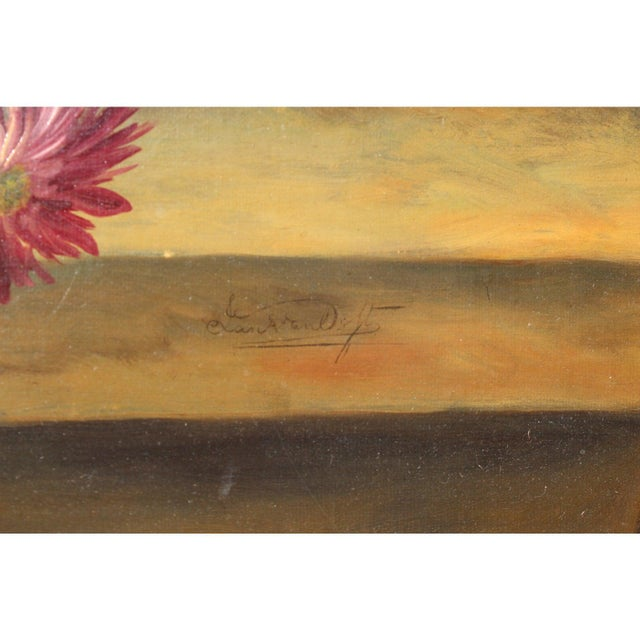 Black Early 20th C. Dutch Italian Floral Painting For Sale - Image 8 of 10