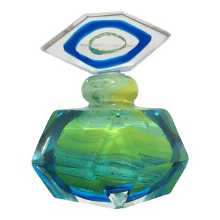 Murano Style Perfume Bottle & Stopper For Sale