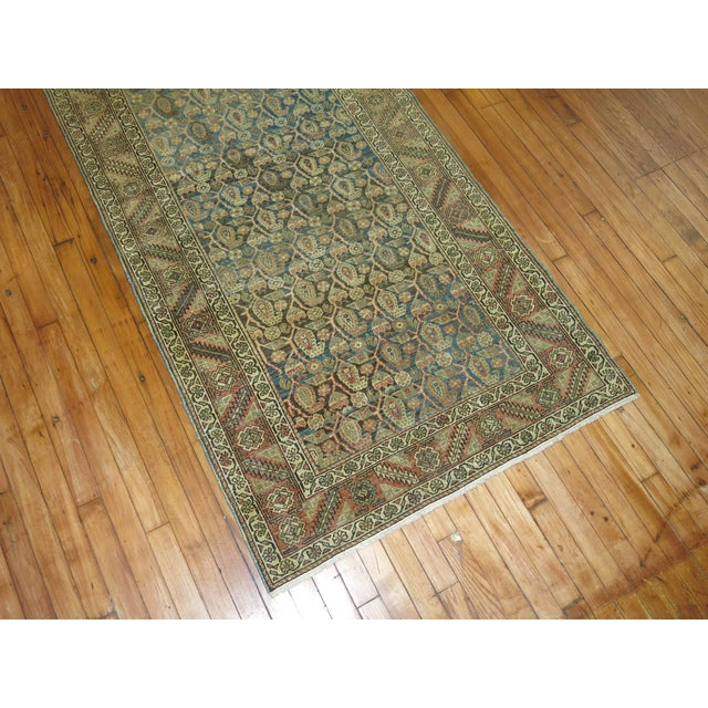 Antique Persian Malayer Runner, 3'4'' X 20'2'' For Sale - Image 4 of 11